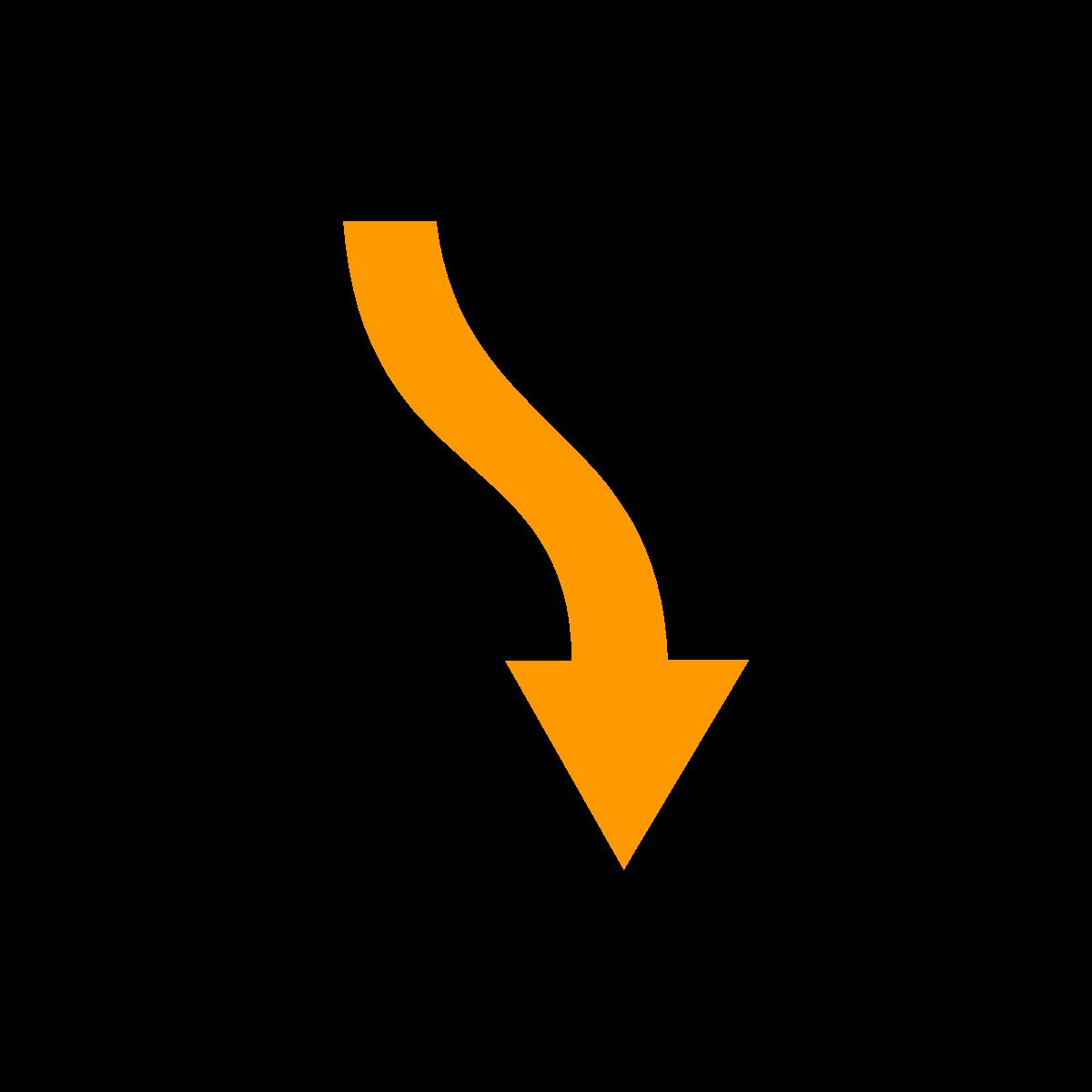 noun_Arrow_down left